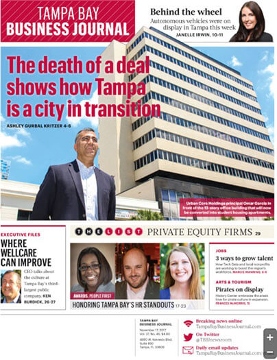 Latest issue of Tampa Bay Business Journal