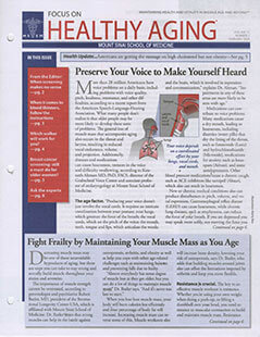 Latest issue of Focus On Healthy Aging Journal