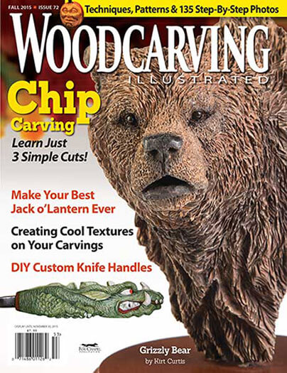Latest issue of Woodcarving Illustrated Magazine