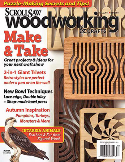Latest issue of Scroll Saw Woodworking and Crafts Magazine