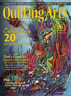 Latest issue of Quilting Arts Magazine