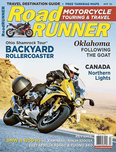 Latest issue of RoadRUNNER Motorcycle Touring & Travel Magazine