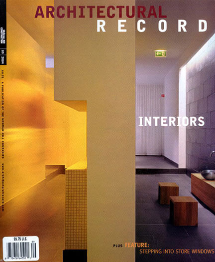 Latest issue of Architectural Record