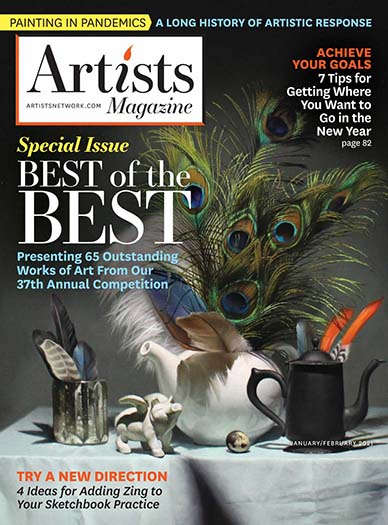 Latest issue of Artists Magazine
