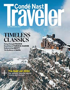 Latest issue of Conde Nast Traveler