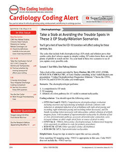 Latest issue of Cardiology Coding Alert
