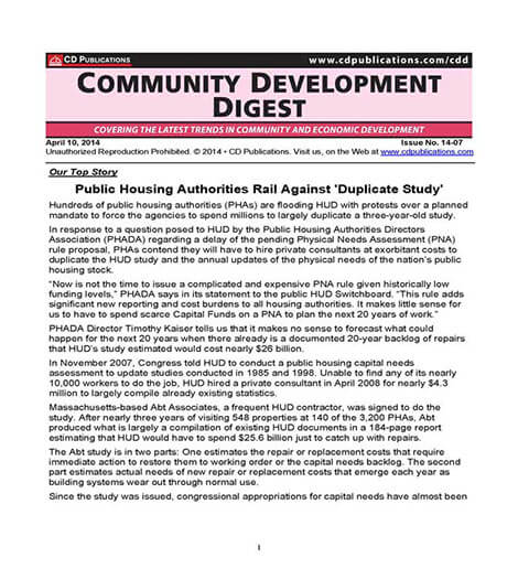 Best Price for Community Development Digest Subscription