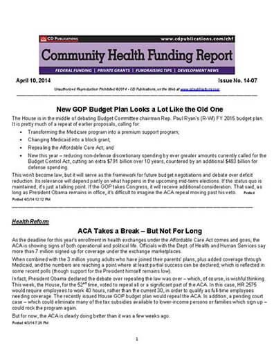 Community Health Funding Report Magazine