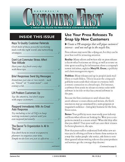 Subscribe to Dartnell's Customer First