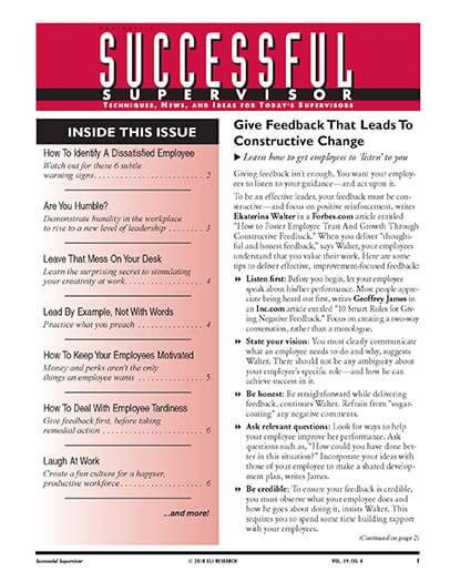 Latest issue of Dartnells Successful Supervisor