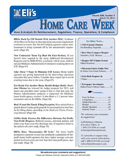 Subscribe to Eli's Home Care Week