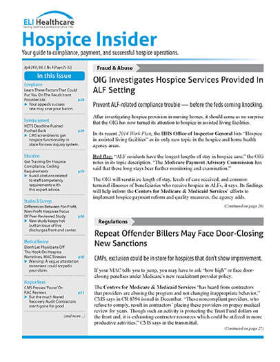 Latest issue of Elis Hospice Insider