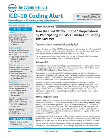 Subscribe to ICD-10 Coding Alert