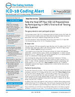 ICD-10 Coding Alert 1 of 5