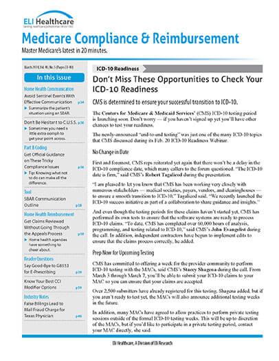 Latest issue of Medicare Compliance & Reimbursement Magazine