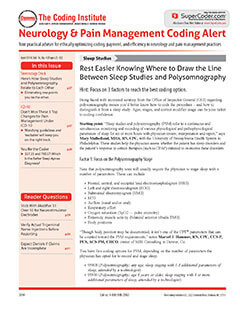 Latest issue of Neurology Coding Alert Magazine