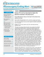 Neurosurgery Coding Alert 1 of 5