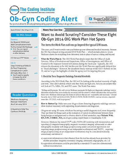 Latest issue of Ob-Gyn Coding Alert Magazine