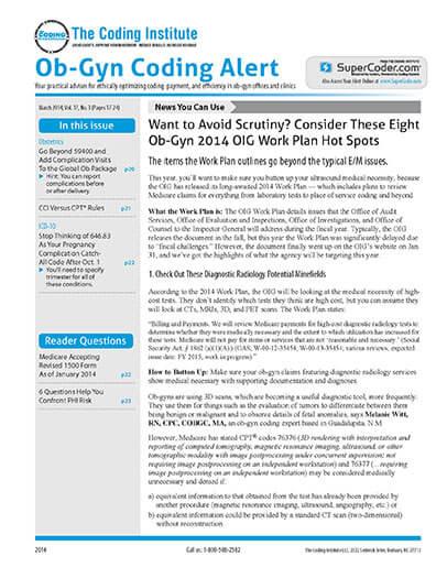 Best Price for Ob-Gyn Coding Alert Subscription