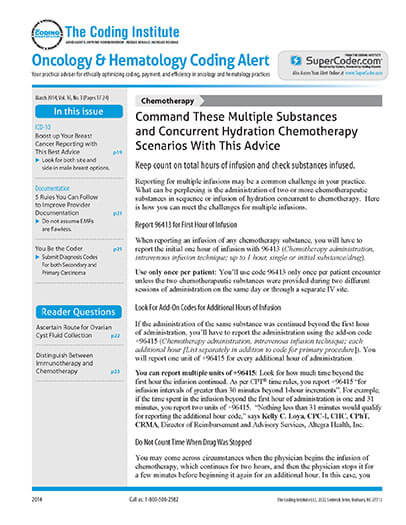 Subscribe to Oncology & Hematology Coding Alert