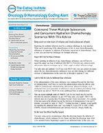 Oncology & Hematology Coding Alert 1 of 5