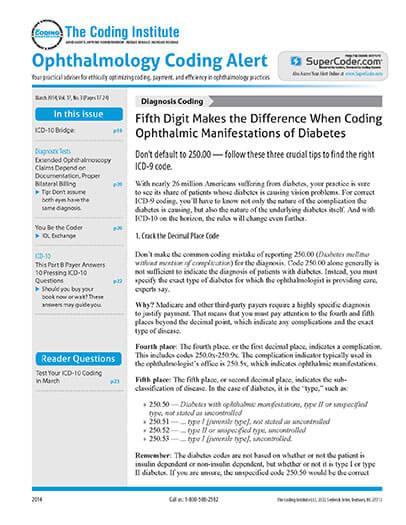 Ophthalmology Coding Alert Magazine