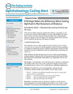Latest issue of Ophthalmology Coding Alert Magazine