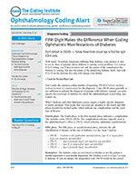 Ophthalmology Coding Alert 1 of 5