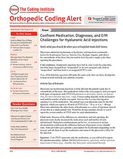 Latest issue of Orthopedic Coding Alert Magazine