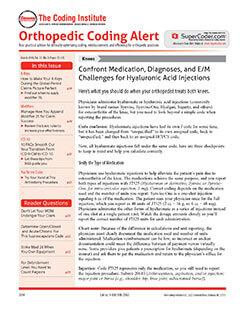 Latest issue of Orthopedic Coding Alert Magazine