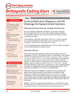 Orthopedic Coding Alert 1 of 5
