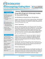 Otolaryngology Coding Alert 1 of 5