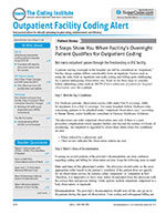 Outpatient Facility Coding Alert 1 of 5