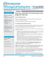 Pathology/Lab Coding Alert 1 of 5