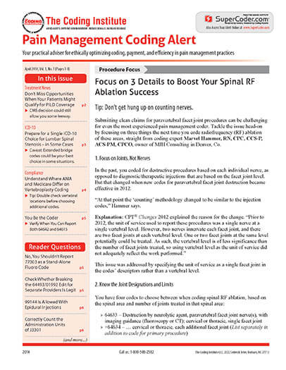 Best Price for Pain Management Coding Alert Subscription