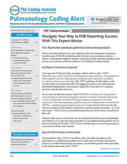 Latest issue of Pulmonology Coding Alert Magazine