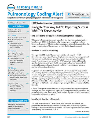 Subscribe to Pulmonology Coding Alert