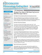 Pulmonology Coding Alert 1 of 5
