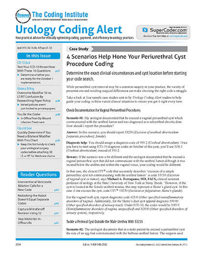 Subscribe to Urology Coding Alert