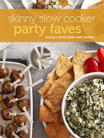 Cover of Skinny Slow Cooker Party Faves digital PDF