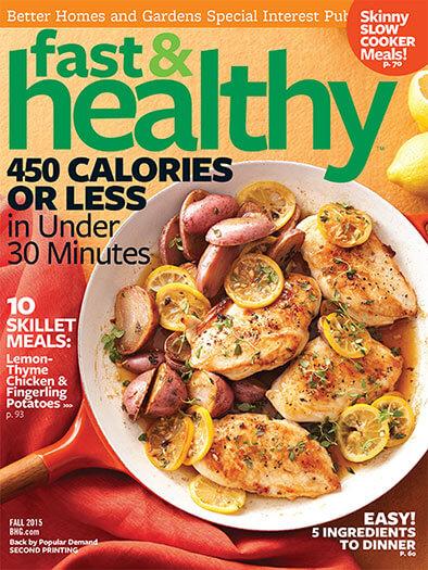 Cover of Fast & Healthy Fall 2015 digital PDF