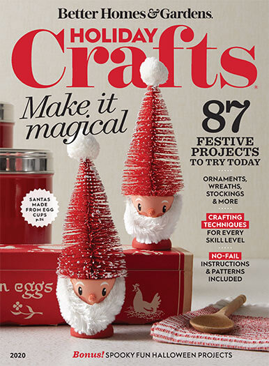 Cover of Better Homes & Gardens Holiday Crafts 2020