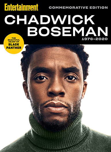Cover of Entertainment Weekly Chadwick Boseman 1976-2020