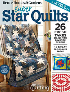 Cover of Better Homes & Gardens: Super Star Quilts
